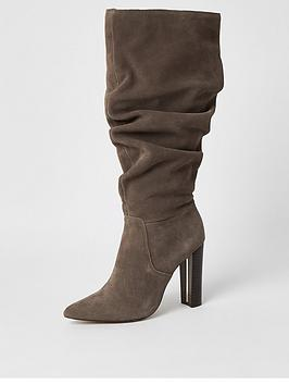 river-island-river-island-suede-knee-high-slouch-boot-grey