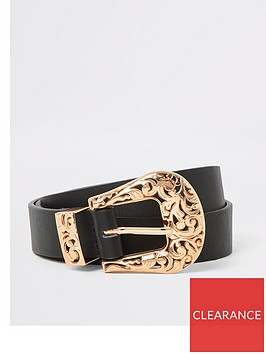 river-island-river-island-gold-western-buckle-belt-black