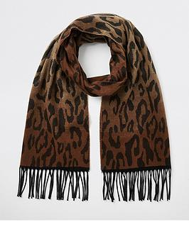 river-island-river-island-ombre-effect-leopard-scarf-brown