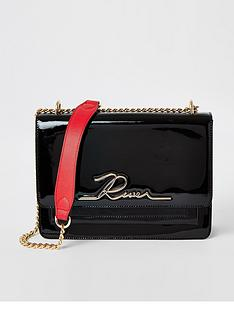 river-island-patent-shoulder-bag-black