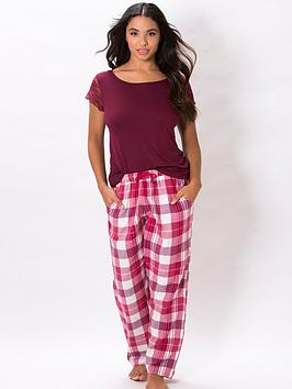 pour-moi-lazy-days-cosy-check-trouser