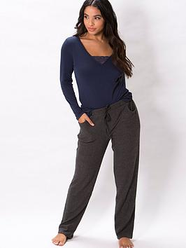 pour-moi-lazy-days-cosy-rib-pj-trouser-charcoal