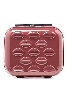 lulu-guinness-antique-rose-lips-hardsided-vanity-case