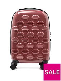 lulu-guinness-antique-rose-small-lips-hardsided-spinner-case