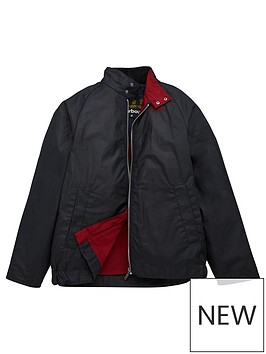 barbour-boys-ender-wax-jacket-navy