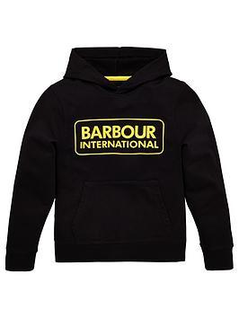 barbour-international-boys-large-logo-hoodie-black