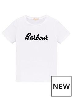 barbour-girls-short-sleeve-logo-t-shirt-white