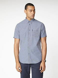 ben-sherman-short-sleeve-signature-core-gingham-shirt-blue
