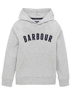 barbour-boys-logo-hoodie-grey
