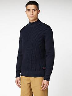 ben-sherman-funnel-neck-jumper-dark-navy