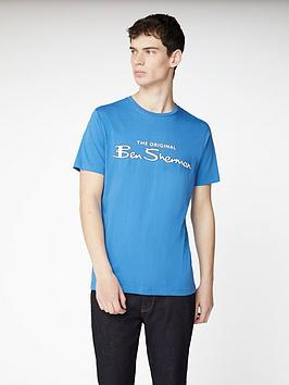 ben-sherman-signature-logo-t-shirt-blue