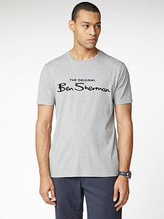 ben-sherman-signature-logo-t-shirt-grey