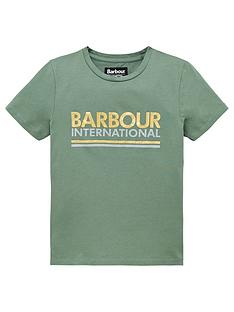 barbour-international-girls-distance-logo-short-sleeve-t-shirt-green