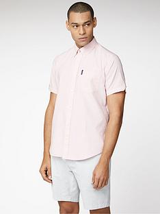 ben-sherman-short-sleeve-signature-oxford-shirt-pink