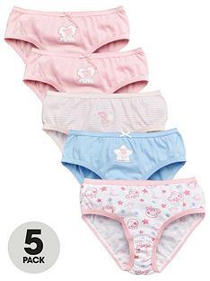 peppa-pig-girlsnbsp5-pack-knickers-pink