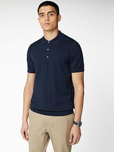 ben-sherman-signature-cotton-short-sleeve-polo-shirt-navy