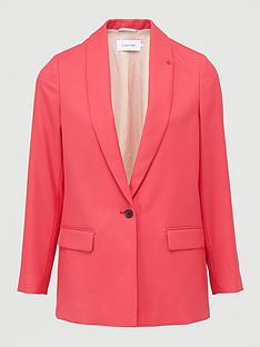 calvin-klein-coloured-suit-long-blazer-pink