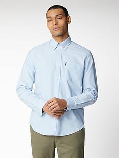 ben-sherman-long-sleeve-signature-oxford-shirt-sky