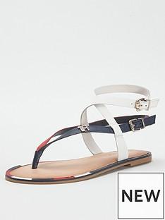 tommy-hilfiger-elastic-flat-sandals-red