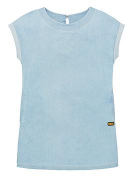 barbour-international-girls-axel-chambray-dress-blue