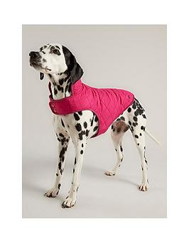 joules-raspberry-quilted-dog-coat