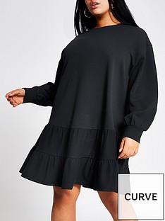 ri-plus-smock-jersey-sweater-dress-navy