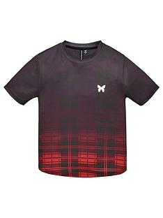 good-for-nothing-boys-checked-fade-short-sleeve-t-shirt-red