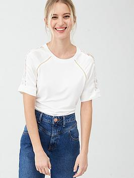 river-island-river-island-satin-lace-mix-sleeve-jersey-tee--cream
