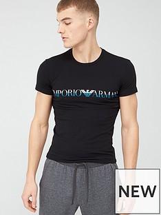 emporio-armani-bodywear-mega-logo-slim-fit-lounge-short-sleeve-t-shirt-black