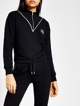 river-island-river-island-zip-through-jersey-sweater--black