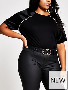 ri-plus-ri-plus-satin-and-lace-sleeve-jersey-tee-black