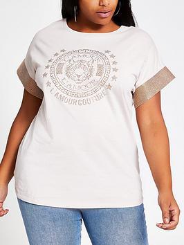 ri-plus-ri-plus-heatseal-sleeve-tiger-embellished-tee-sand