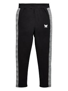 good-for-nothing-boys-taped-checked-panel-jog-pants-black