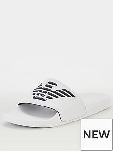 emporio-armani-eagle-logo-slides-white