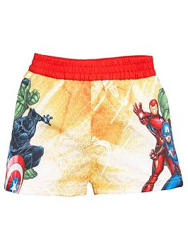 the-avengers-boysnbspboardshorts-yellow