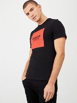 barbour-international-block-logo-t-shirt-black