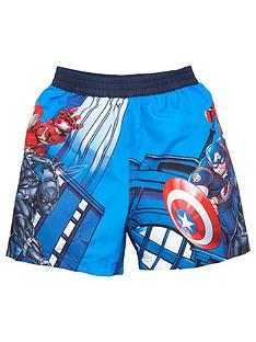 the-avengers-boysnbspboardshorts-blue