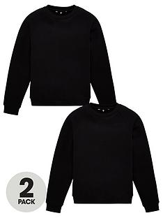 v-by-very-unisex-2-pack-basic-school-sweat-top-black