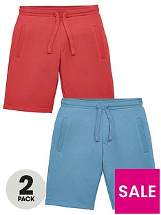 v-by-very-boys-essential-2-pack-jogger-shorts-redblue