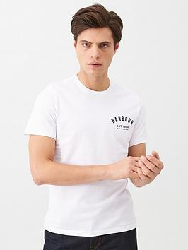 barbour-small-chest-logo-t-shirt-white