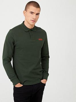 barbour-international-essential-logo-long-sleeve-polo-shirt-green