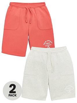 v-by-very-boys-2-pack-jogger-shorts-redgrey
