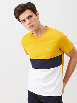 barbour-colour-block-logo-t-shirt-yellow