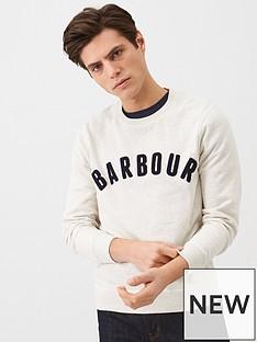 barbour-prep-textured-logo-sweat-white