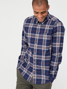 barbour-highland-27-check-shirt-navy