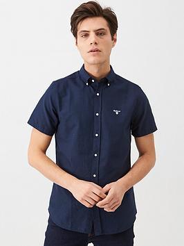barbour-short-sleeved-oxford-shirt-navy
