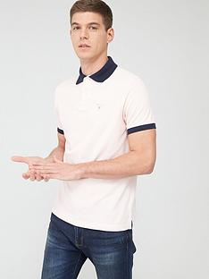 barbour-contrast-collar-polo-shirt-pink