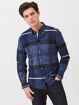 barbour-sutherland-check-shirt-navy