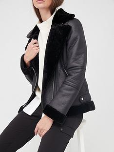 v-by-very-faux-shearling-aviator-jacket-black