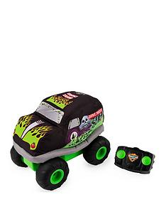 monster-jam-official-grave-digger-plush-remote-control-monster-truck-with-soft-body-and-2-way-steering